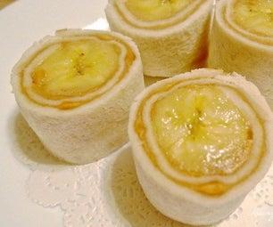 Banana Sandwich Sushi Rolls