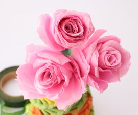 How to Make Tissue Paper Roses