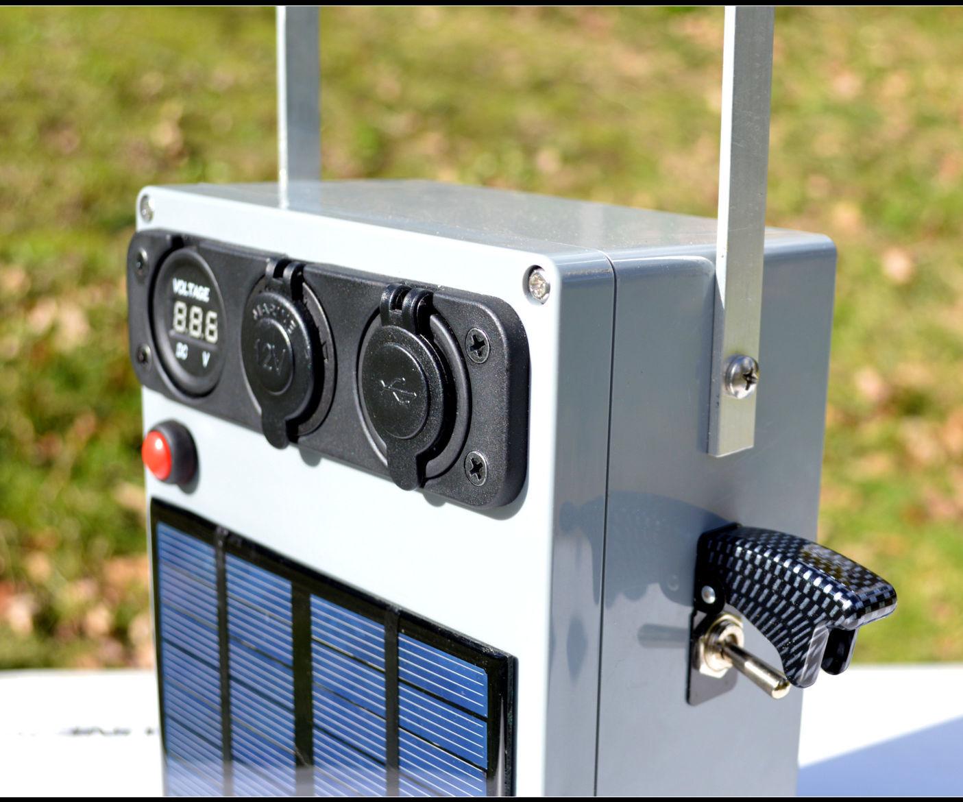 Portable, Solar 12V Battery Pack