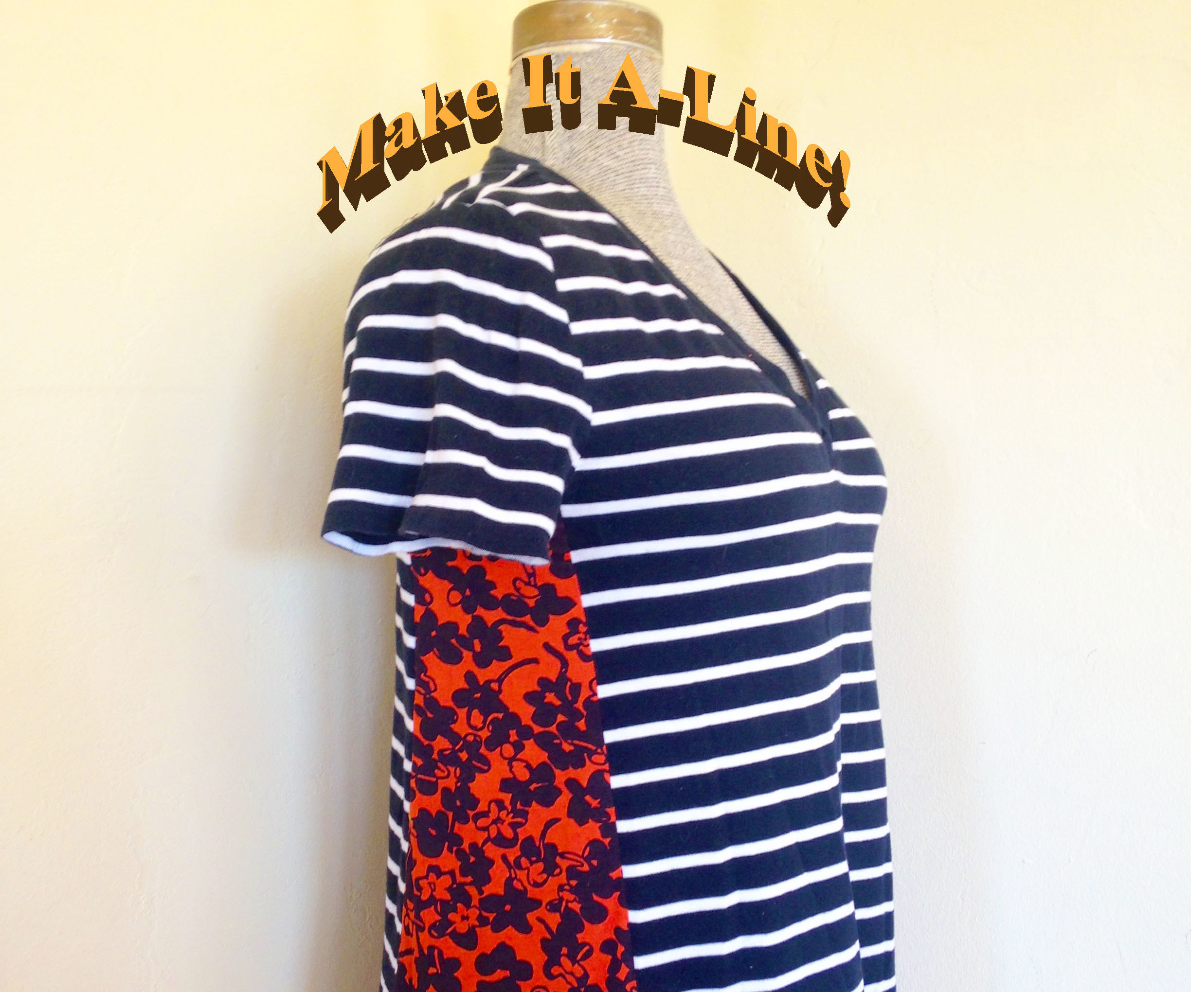 Make an A-line Tee Out of a Fitted Tee