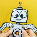 Light-Up Chipboard Robot Toy