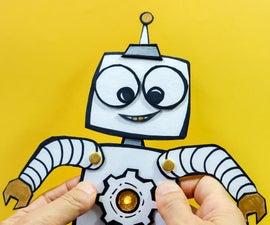点亮刨花板机器人玩具