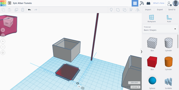Editing in Tinkercad