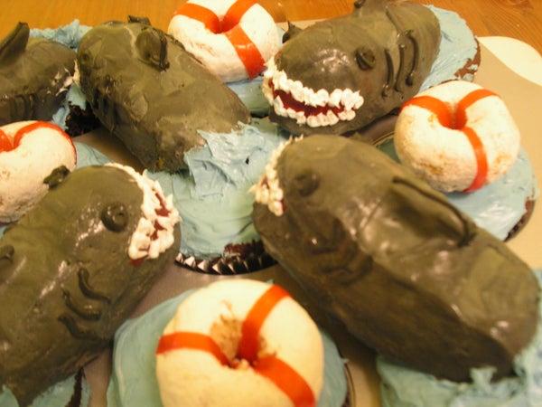 Shark and Life Saver Cupcakes
