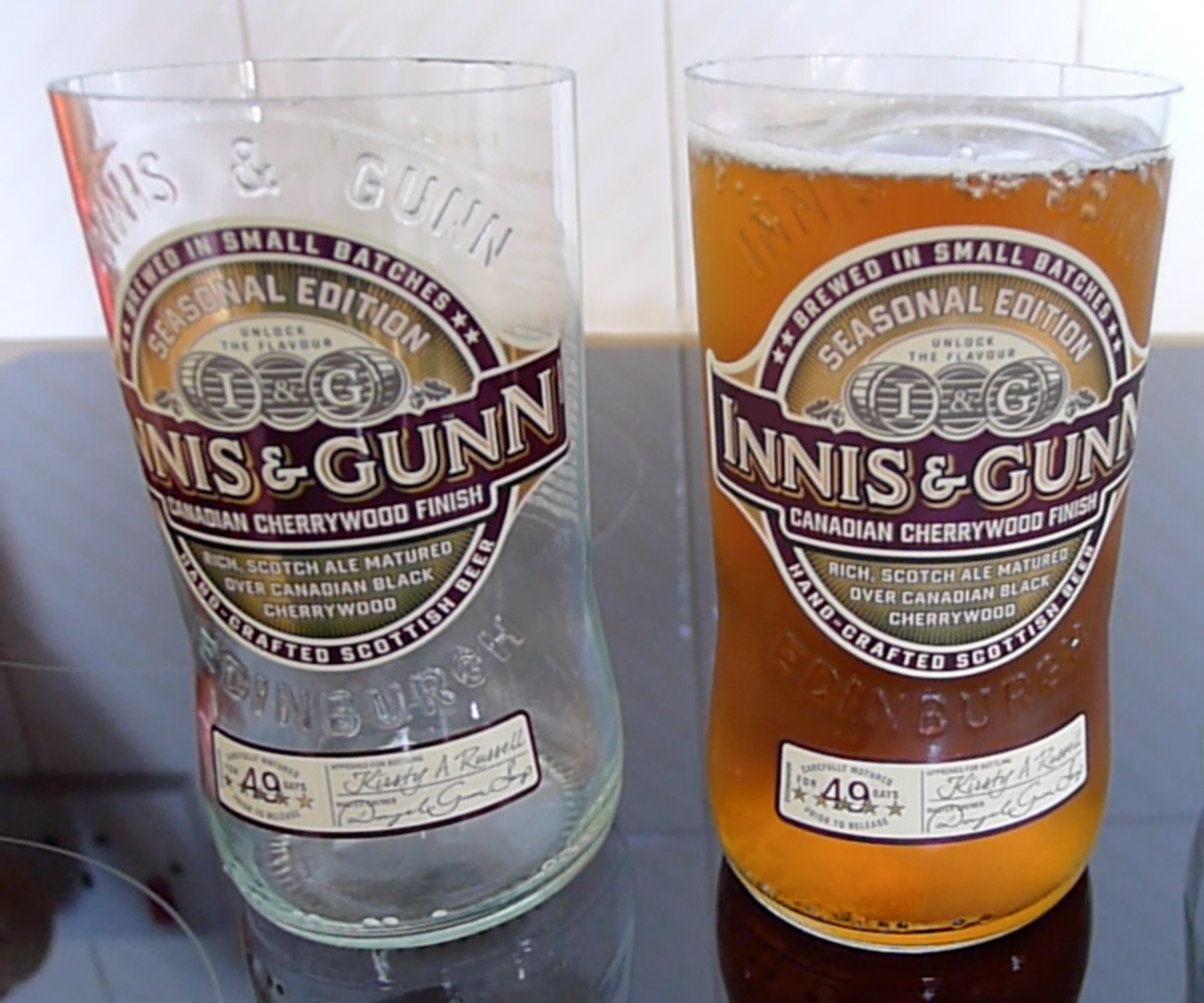 Upcycled Beer Bottle Glasses