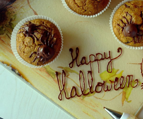 Scary (ok, Cute) Spider Pumpkin Cupcakes