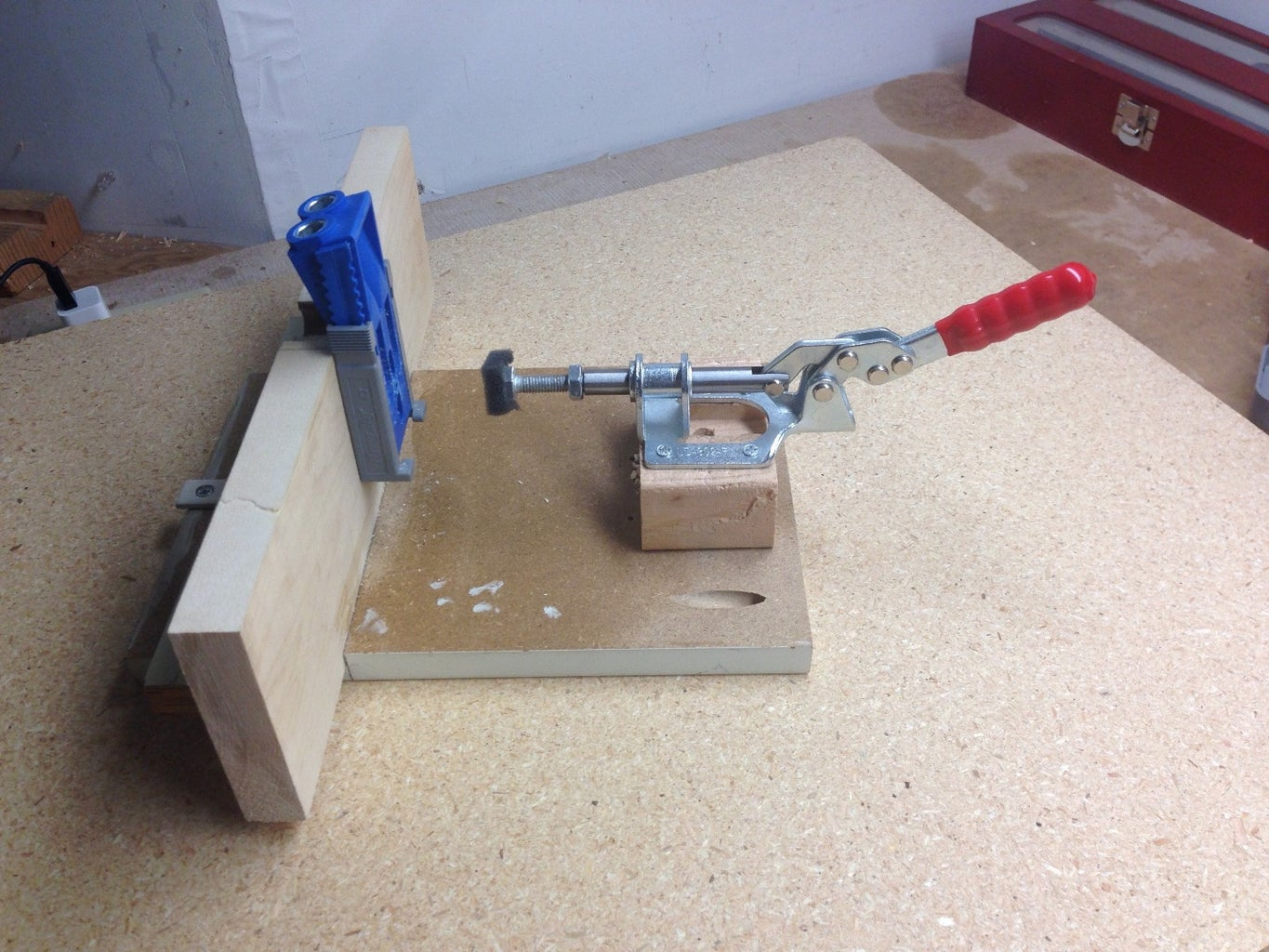 Connect the Toggle Clamp and Drill Holes.