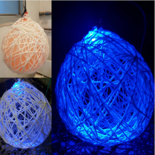 Hanging Yarn Ball Art