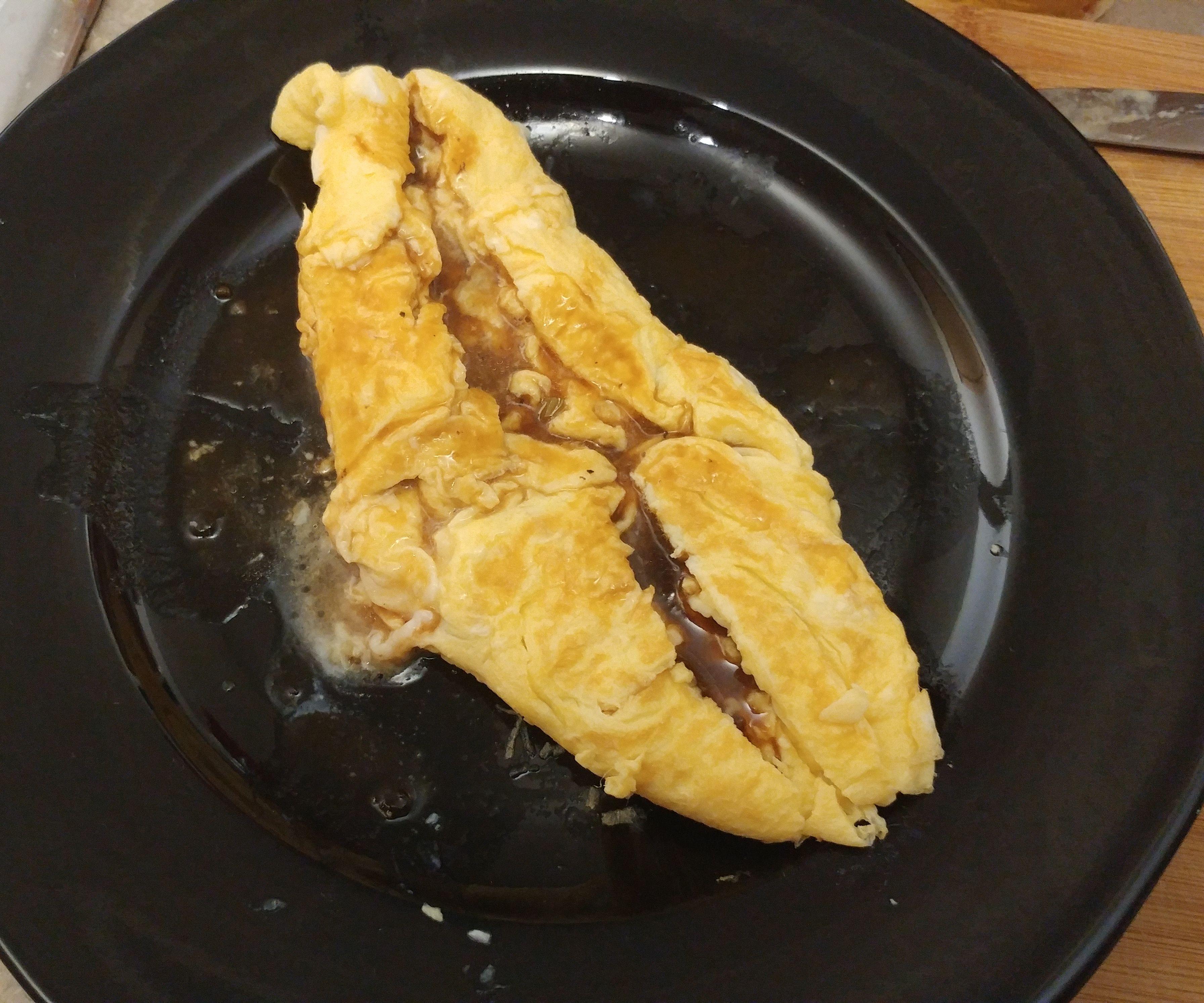 Lava Omelette and Home Made Tonkatsu Sauce
