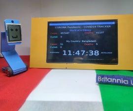 Desktop COVID19 Tracker With Clock! Raspberry Pi Powered Tracker