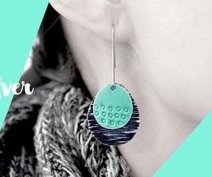 DIY Tutorial - How to Make Enamel Sterling Silver Pendant Earrings