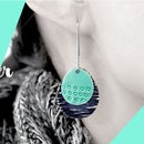 DIY Tutorial - How to Make Enamel Sterling Silver Pendant Earrings