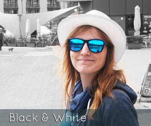 Black and White With Partial Color Effect