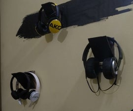 Free DIY Headphone Wall Mount