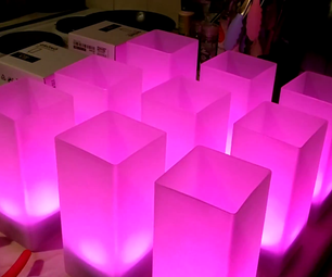 WiFi Controlled LED Wedding Table Pieces