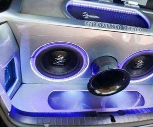 如何使用工厂立体声在汽车中安装售后市场低音炮