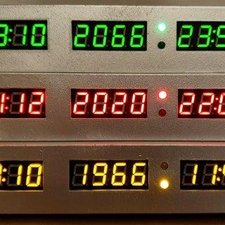 Futuristic Clock BTTF Style