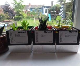 Floppy Disk Succulent Planter