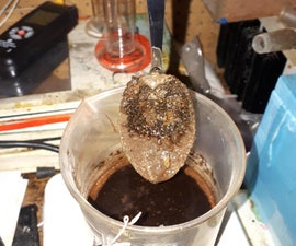 Plating Tannic Acid Crystals in Lye to Steel.