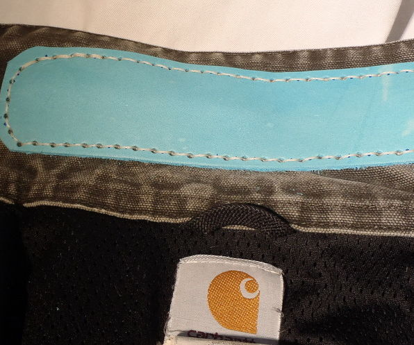 Stitched Collar Repair With Leather.