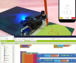 Scratch Built Android App Basics and BT Drawing Robot App