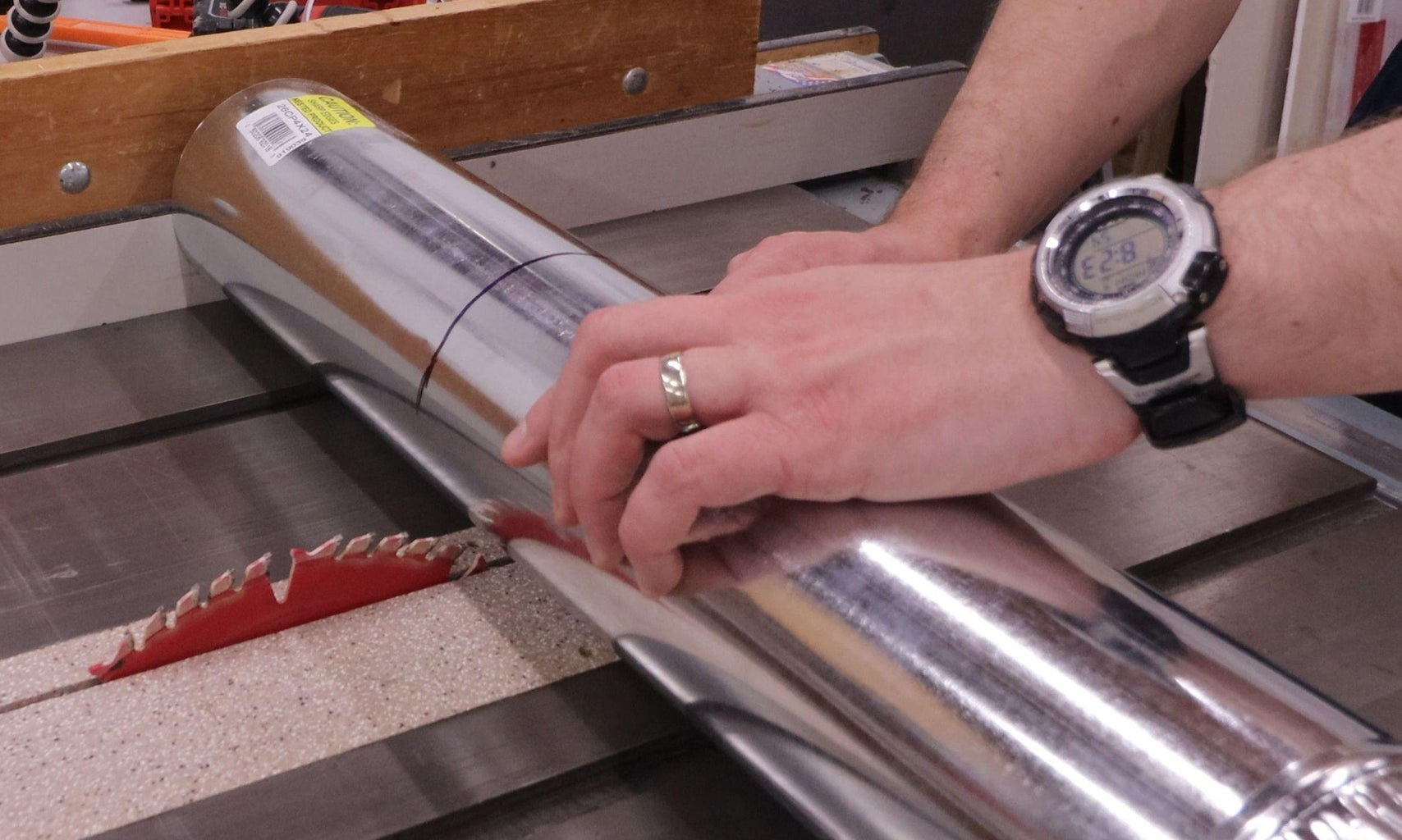 Measure Exit Duct and Cut