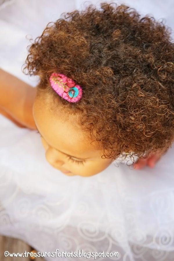 Embroidered Felt Hair Clip