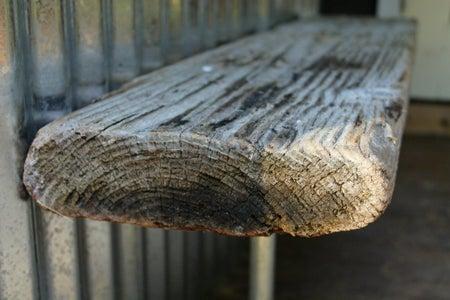 Reclaimed Driftwood Bench