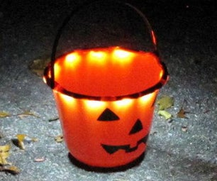Be Safe With Trick-or-Treat Bucket Light