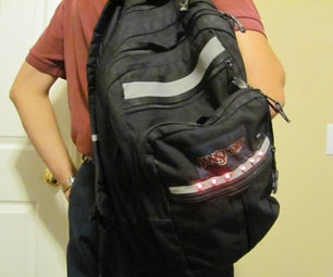 Reflective Flashing Safety Backpack