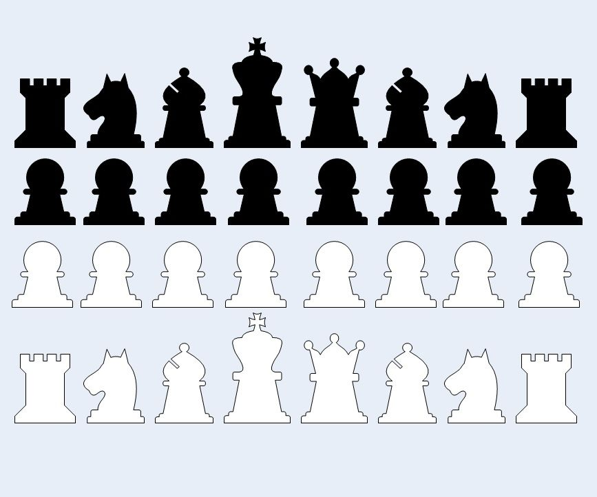 Patterns for 2D Chess Pieces