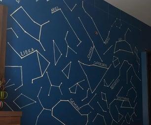 Glow in Dark Constellations Map