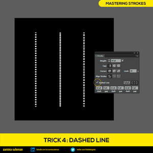 Trick 4: Dashed Line — Breaking the Stroke Into Parts