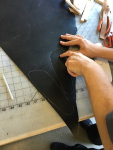 Cut Plywood Sole and Apply Leather Insole for Comfort