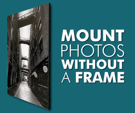 How to Mount Photos Without a Frame