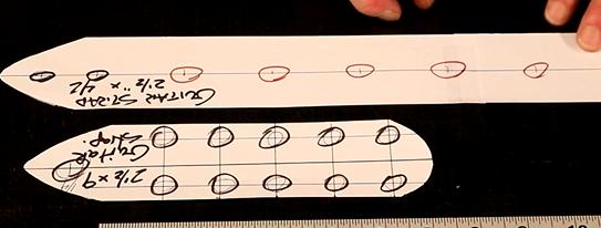"""Mark Main Pattern for ¼"""" Nickel Spots"""