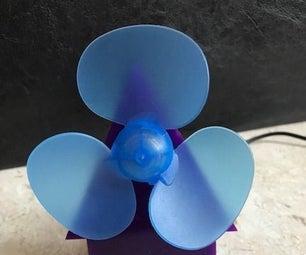 Acrylic Desk Fan (customizable)