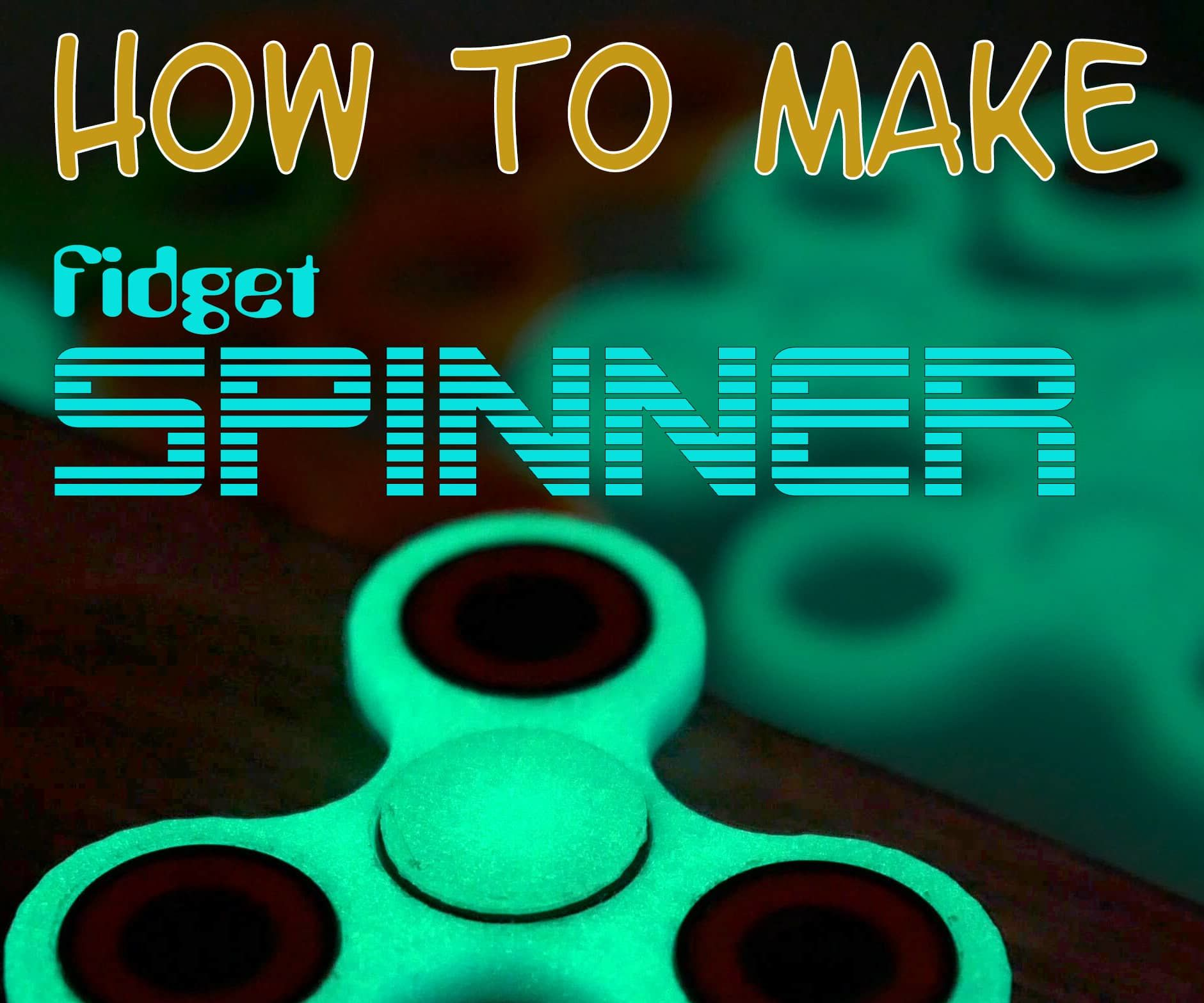Fidget Spinner Glowing in the Dark