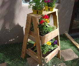 Reclaimed Wood Herb or Plant Stand