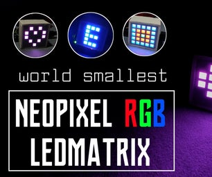 RGB LED MATRIX USING NEOPIXEL