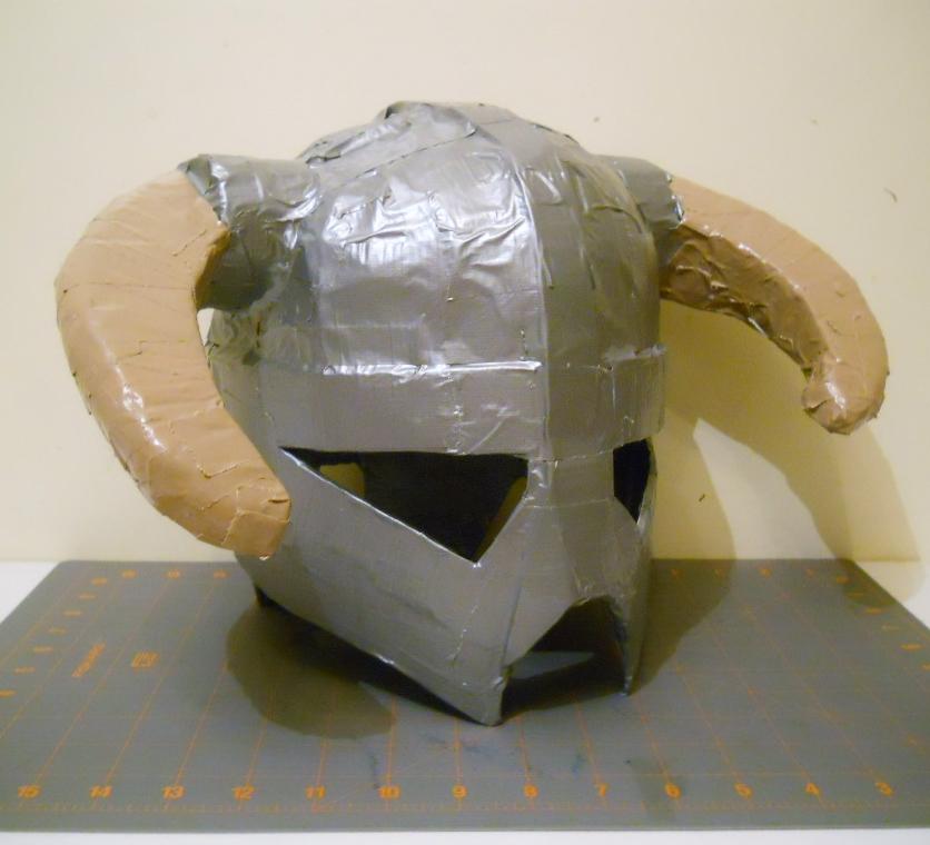 Duct Tape / Cardboard Iron Helmet (Skyrim)