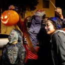Headless Horseman Jack-O-Lantern Pumpkin Head W/ Lights and Scary Sounds