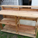 Cedar Fence Picket Outdoor Bar / Countertop