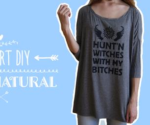 Supernatural Fan T-Shirt Video Tutorial DIY