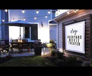 DIY Outdoor Movie Theater for Our Backyard!