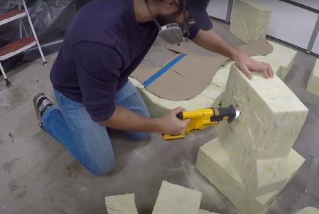 Cut Out Your Sketch and Start Piecing Together the Foam Blocks.