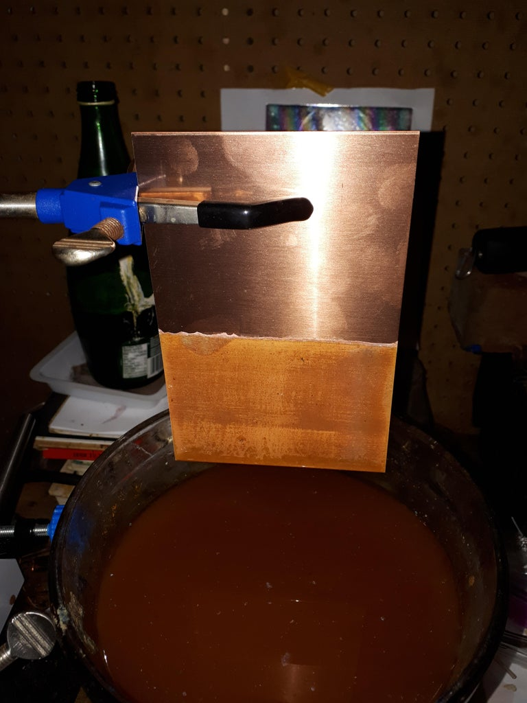 Preparing Your Cobalt Chloride Solution and Electroplating the Copper Sheet.