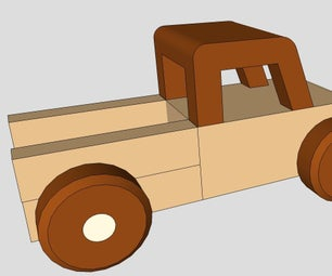 Wood Toy Pickup Truck