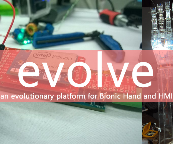 Evolve - a Platform for Bionic Hands and HMIs (Intel IoT)