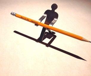 Metal Man Pencil Holder